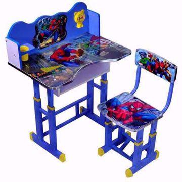 طاولةأطفال-مع-كرسي صور سبيدر مان لون ازرق