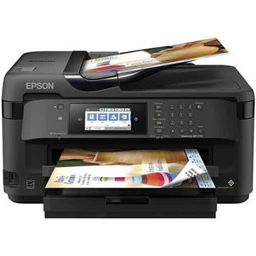 Epson WorkForce WF-7710 Wireless Wide-format Color Inkjet Printer with Copy Scan Fax Wi-Fi Direct at hubloh