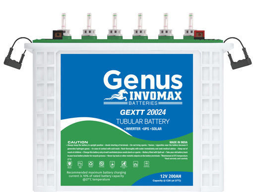 Picture of GENUS 200AH/12V INVOMAX TUBULAR Batteries