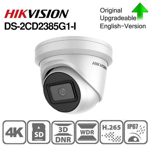 Picture of HIKVISSION DS-2CD2385G1-I 2.8MM 8MP Darkfighter  Outdoor Network Turret Camera with Night Vision & 2.8mm Lens