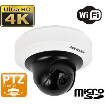 Picture of Hikvision DS-2CD2F42FWD-IWS 4MP POE WiFi WDR Mini PT Network Dome Camera [2.8mm]