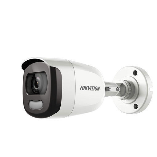 Picture of Hikvision Techlogics DS-2CE10DFT-F Color Vu 2MP Bullet Full time Colour Turbo HD Camera, 3.6 mm Lens and Light Distance 20 m (White)
