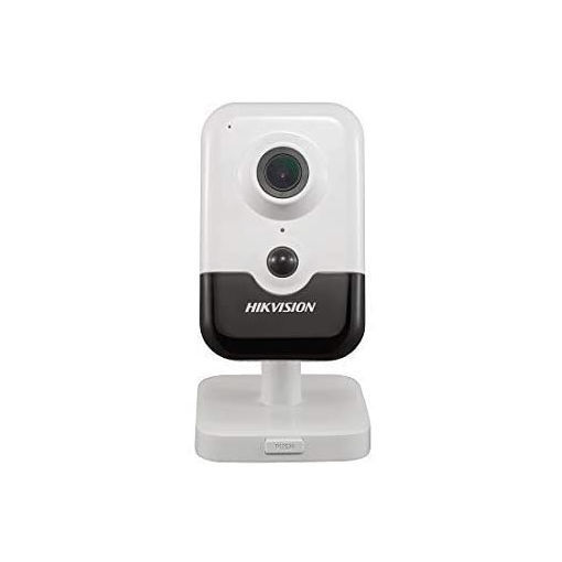 Picture of Hikvision Indoor 4MP DS-2CD2443G0-IW PoE Cube Camera 2.8mm Lens with Build in SD Slot, Wi-Fi, Two Way Audio, English