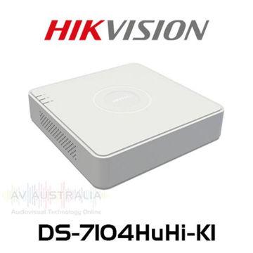 صورة جهاز تسجيل فيديو DVR لكاميرات المراقبة العادية من هيك فيجن قناة 4 موديلDS-7104HUHI-K1