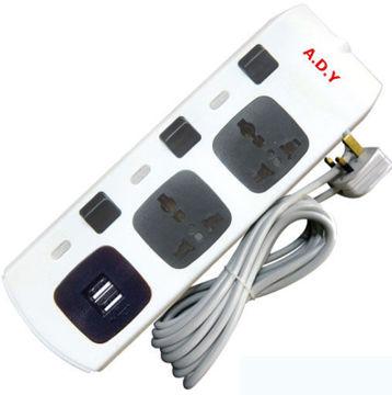صورة موزع كهرباء A.D.Y  منفذين مع USB