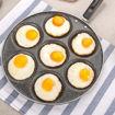 صورة مقالي بيض ولحم شكل عيون وشكل قلب